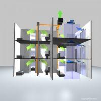 гибридная вентиляция для общего обслуживания помещений